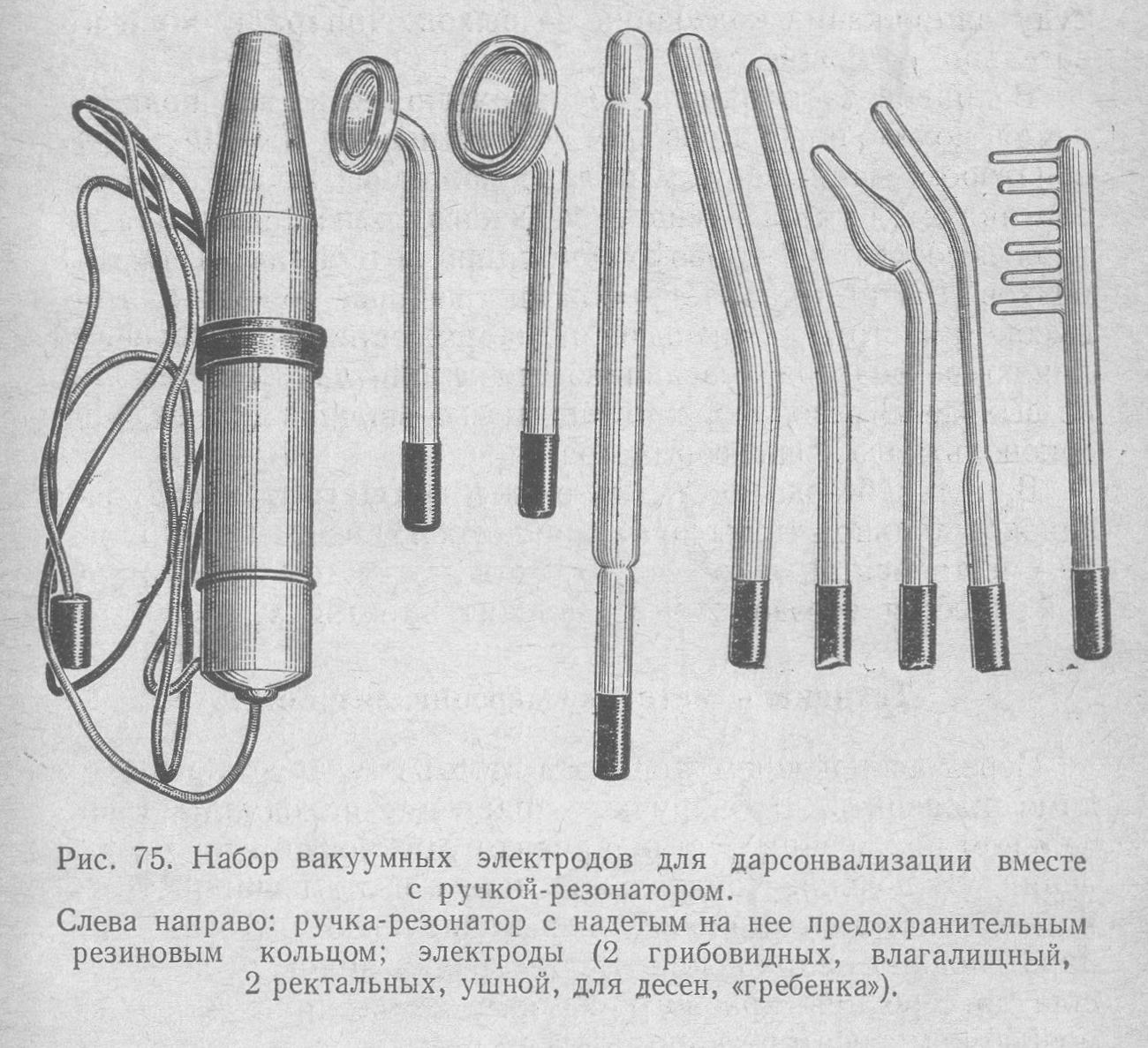 Набор насадок для старого дарсонвализатора Искра-1
